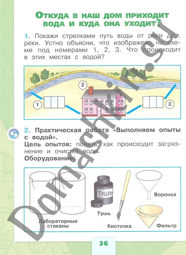 ГДЗ Окружающий мир 1 класс рабочая тетрадь Плешаков 1 часть страница 36