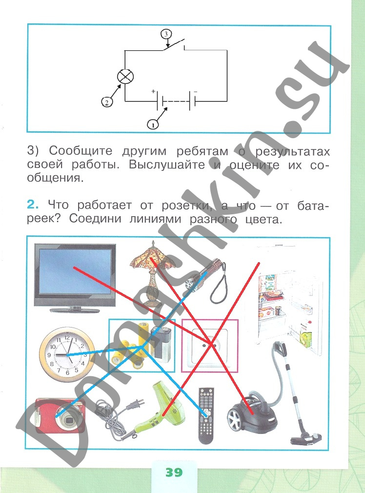 ГДЗ Окружающий мир 1 класс рабочая тетрадь Плешаков 1 часть страница 39
