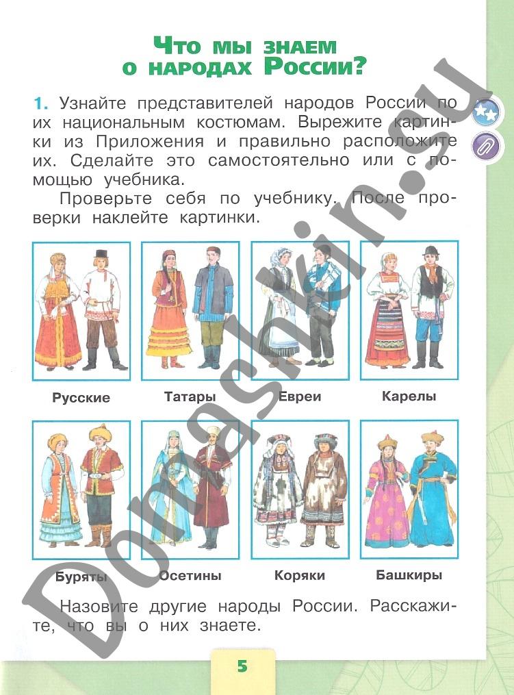 ГДЗ Окружающий мир 1 класс рабочая тетрадь Плешаков 1 часть страница 5