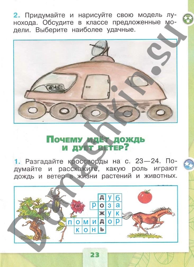 ГДЗ Окружающий мир 1 класс рабочая тетрадь Плешаков 2 часть страница 23