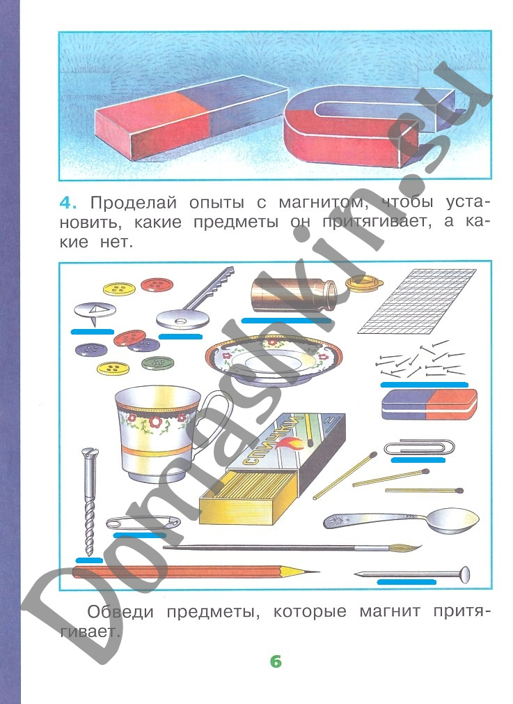ГДЗ Окружающий мир 1 класс научный дневник Плешаков страница 6