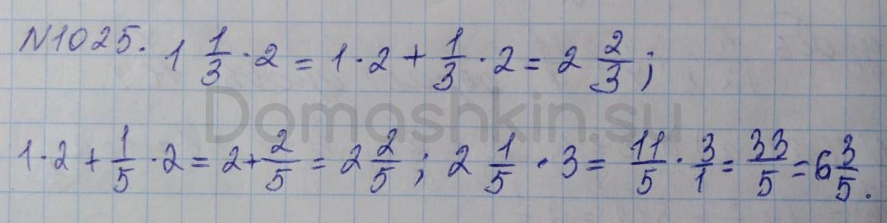 Математика 5 класс учебник Никольский номер 1025 решение