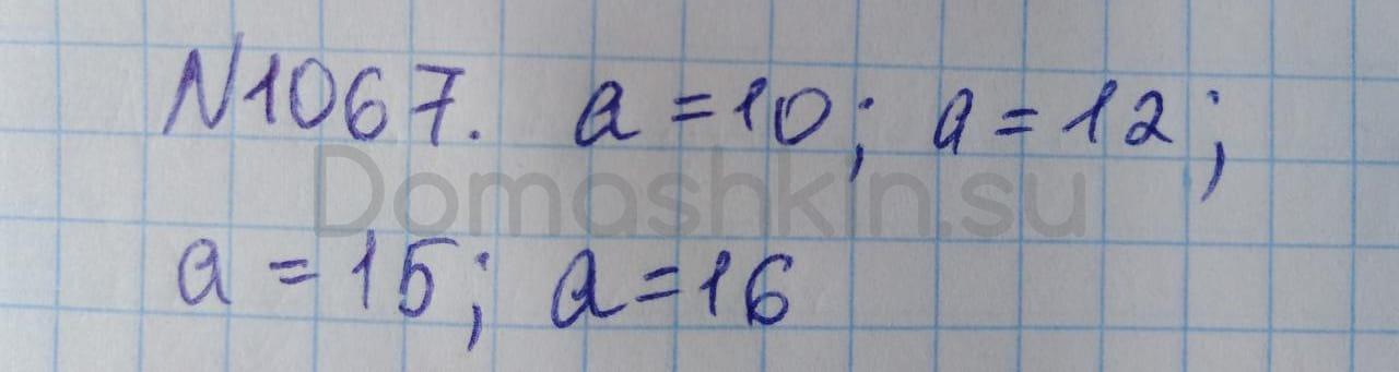 Математика 5 класс учебник Никольский номер 1067 решение