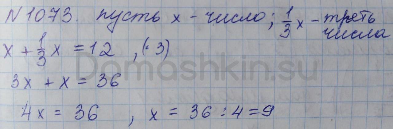 Математика 5 класс учебник Никольский номер 1073 решение