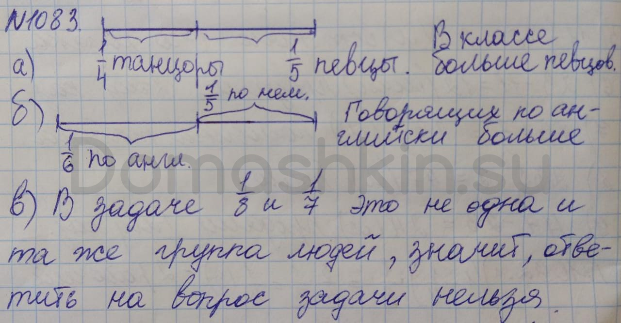 Математика 5 класс учебник Никольский номер 1083 решение