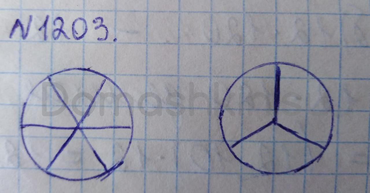 Математика 5 класс учебник Никольский номер 1203 решение