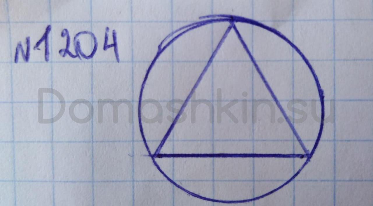 Математика 5 класс учебник Никольский номер 1204 решение