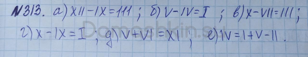 Математика 5 класс учебник Никольский номер 313 решение