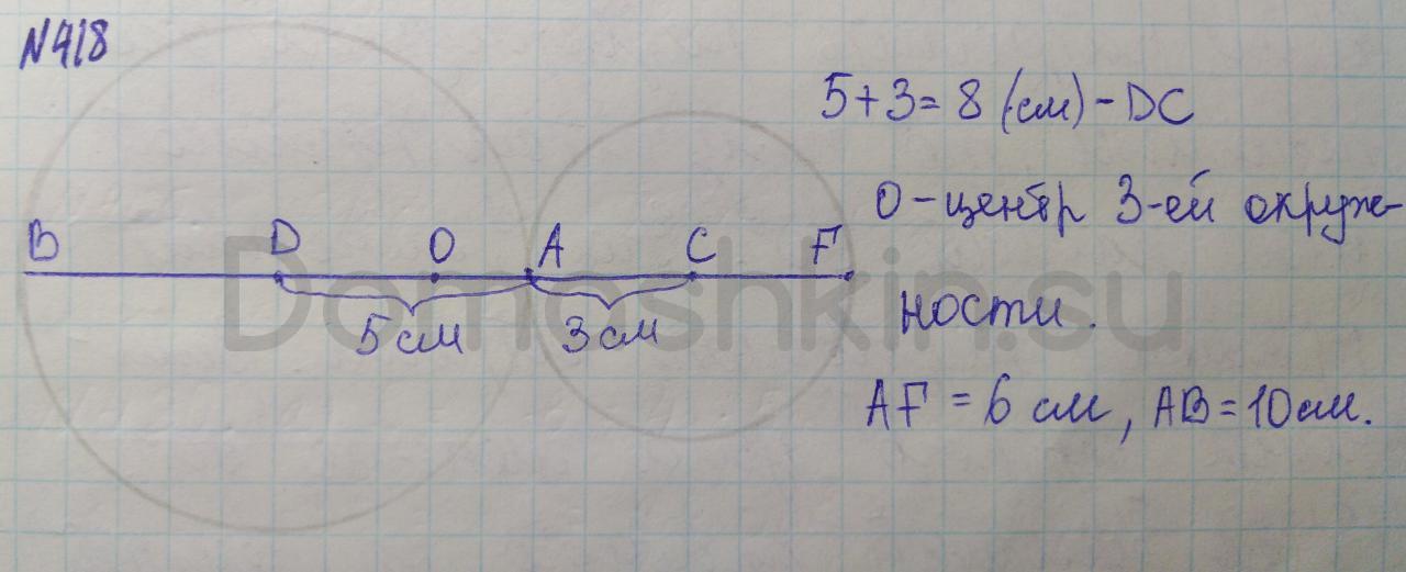 Математика 5 класс учебник Никольский номер 418 решение