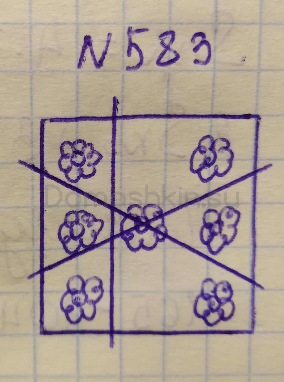 Математика 5 класс учебник Никольский номер 583 решение
