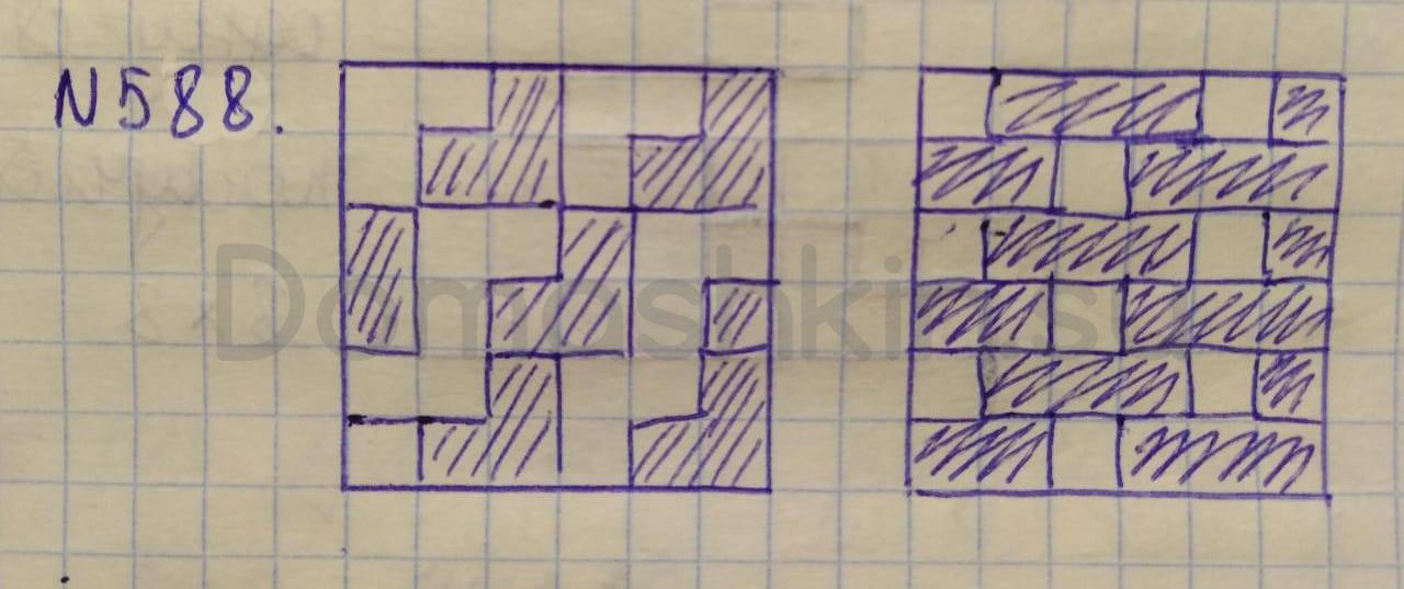 Математика 5 класс учебник Никольский номер 588 решение