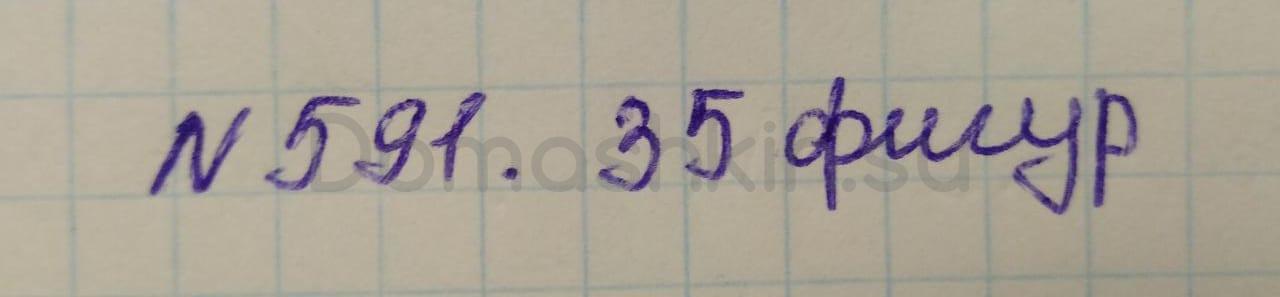 Математика 5 класс учебник Никольский номер 591 решение