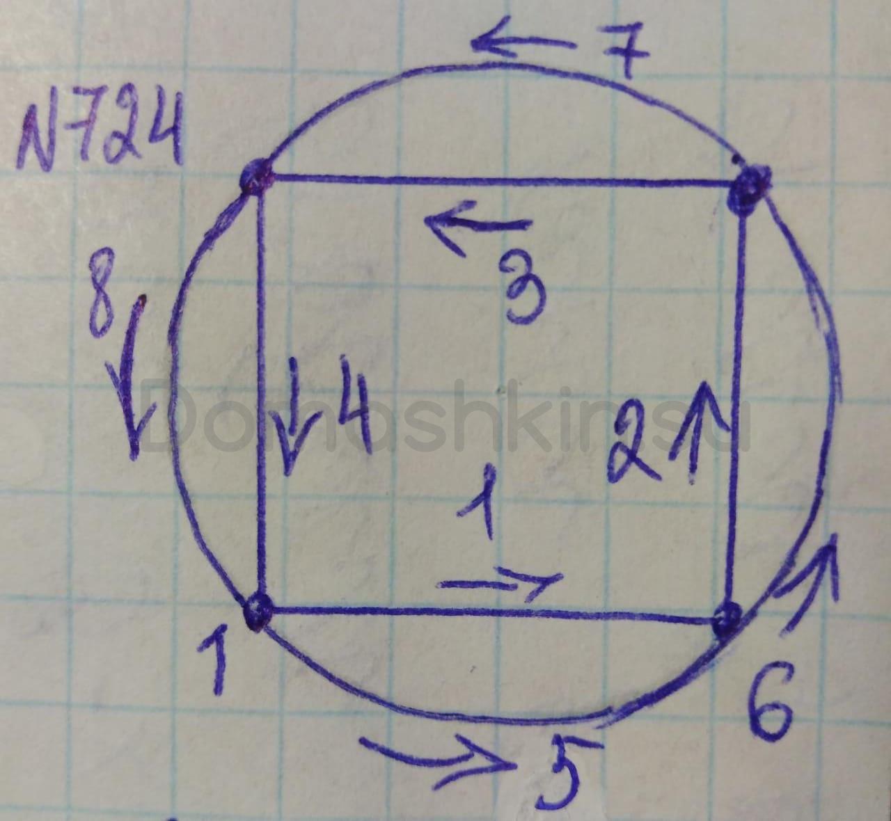 Математика 5 класс учебник Никольский номер 724 решение