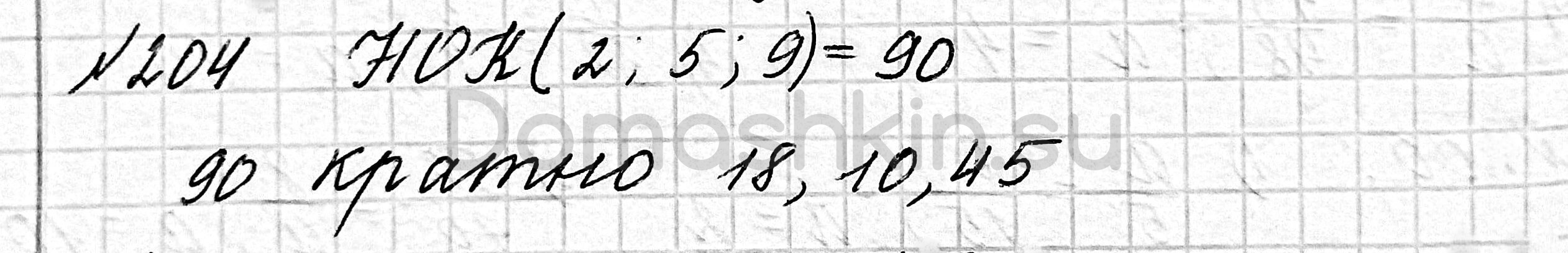 Математика 6 класс учебник Мерзляк номер 204 решение