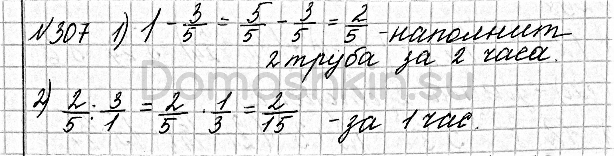 Математика 6 класс учебник Мерзляк номер 307 решение