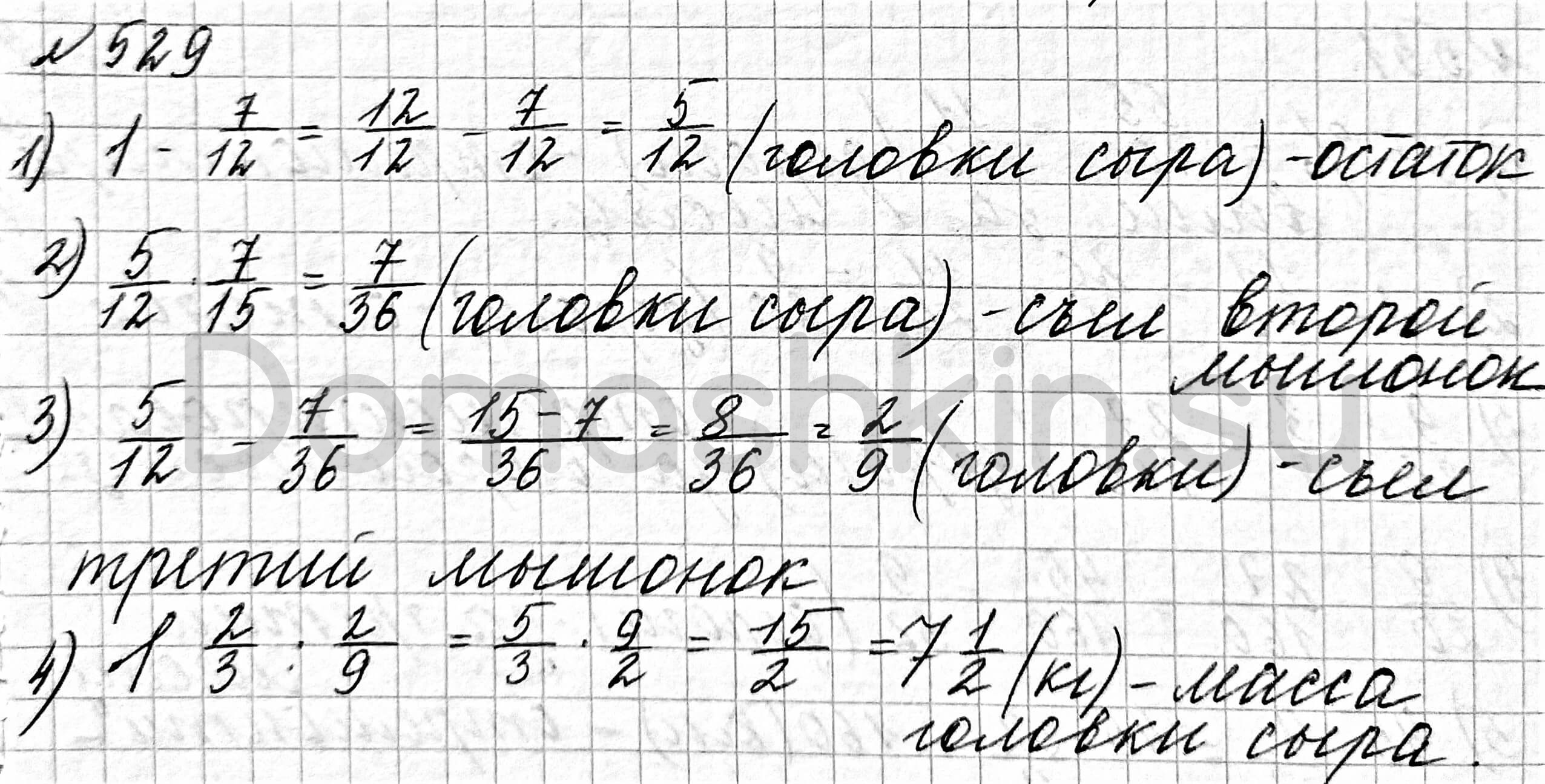 Математика 6 класс учебник Мерзляк номер 529 решение