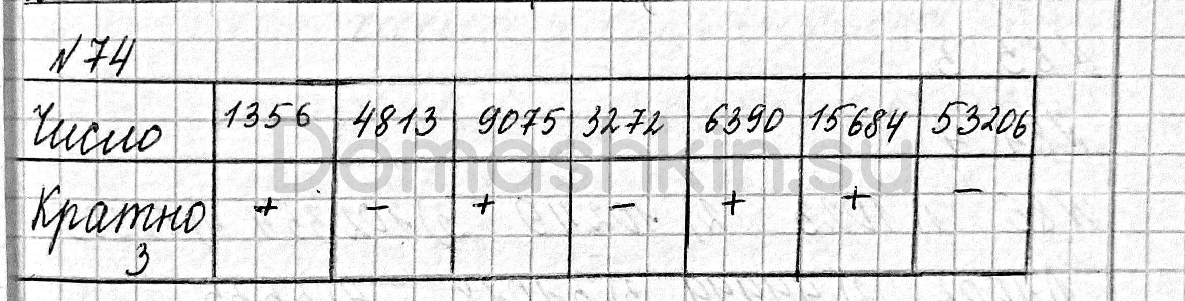 Математика 6 класс учебник Мерзляк номер 74 решение